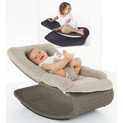Luxurious Wicker Infant Rocker