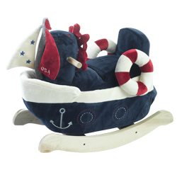 Personalized America the Sailboat Play and Rock Rocker