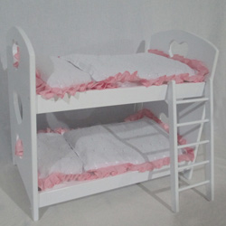 Doll Bunk Bed with Bedding