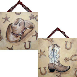 Western Hat & Boot Artwork