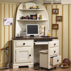 robin corner desk with optional hutch
