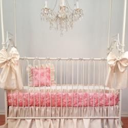 Rose Dior Bumperless Crib Bedding Set