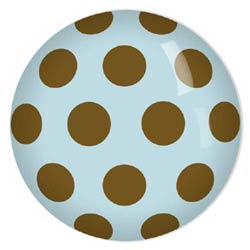 Chocolate Dotted Knobs