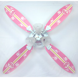 Surfboard - Pink Aloha Ceiling Fan