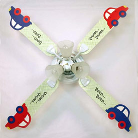Cars ceiling fan crazy cars ceiling fan aloadofball Image collections