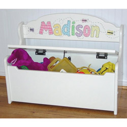 Gloss White Deacon Toy Bench