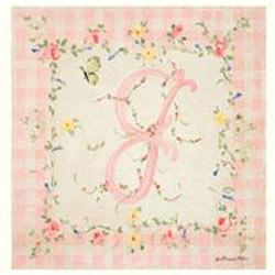 Baby Pink Gingham Initial Plaque