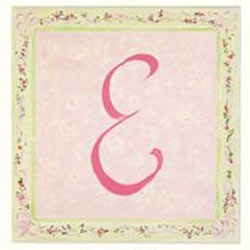 Pretty Pastel Color Initial Plaque