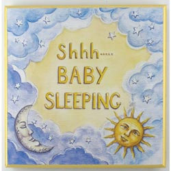 Baby's Sleeping Plaque