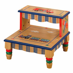 Wings & Wheels Step Stool