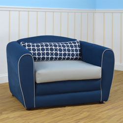 Tween Navy Sleeper Chair