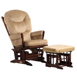 Two Post Multiposition Glider and Nursing Ottoman