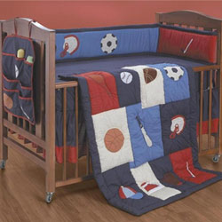 What S The Score Crib Bedding Set