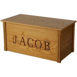 Personalized Toybox with Laser Engraved Letters