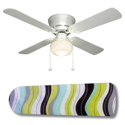 Wavy Wonder Ceiling Fan