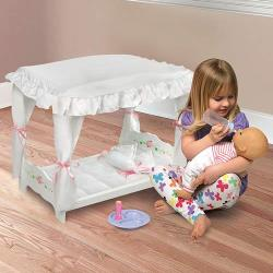 White Rose Doll Canopy Bed