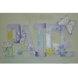 Paige Purple Butterfly Wall Letters