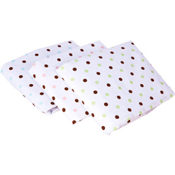 Chocolate Dots Crib Sheets