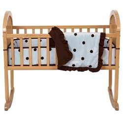 Espresso Dots Cradle Bedding Set