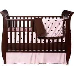 Espresso Dots Crib Bedding Set