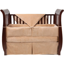 Organic Velour Crib Bedding Set