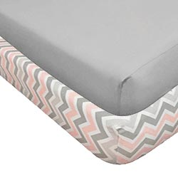 Chevron Mix Crib Sheet Set
