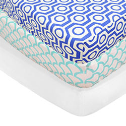 Splash of Sea Crib Sheet Set
