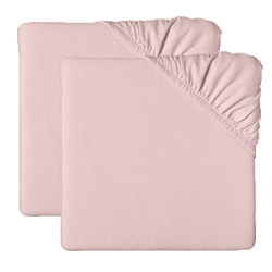 Set of 2 Jersey Knit Crib/Toddler  Sheets