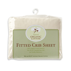 Organic Cotton Knit Crib Sheet