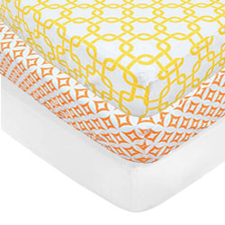 Set of 2 Printed Crib Sheets