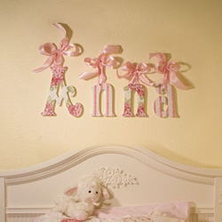 Sparkly Flowers Wall Letters