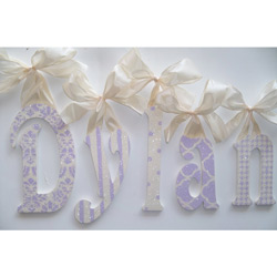 Dylan's Lavender and Cream Glitter Wall Letters