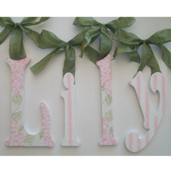 Lily's Chic Glitter Wall Letters