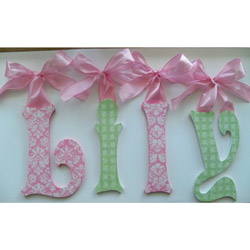 Lily's Glitter Wall Letters