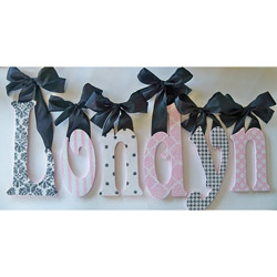 Londyn's Glitter and Sparkle Wall Letters