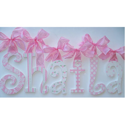 Shaila's Glitter and Sparkle Wall Letters