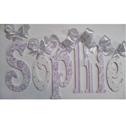 Sophie's Glitter and Sparkle Lavender Letters