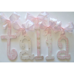 Talia's Shimmering Wall Letters