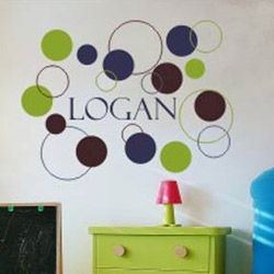 Dots and Circles Wall Decal