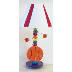 Basketball Ceramic Lamp