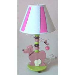 Poodle Ceramic Lamp