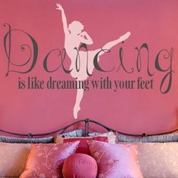 Dancing is Like Dreaming Wall Decal