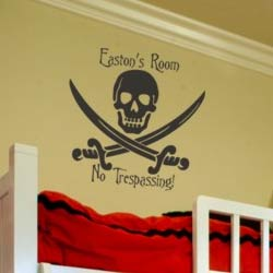 Skull and Swords Wall Decal