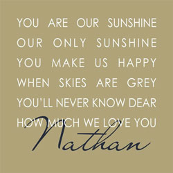 Our Sunshine Canvas Wall Art