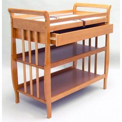 Flat Slat Sleigh Changer With Drawer