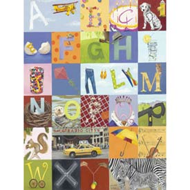 Alphabet Seek Stretched Art