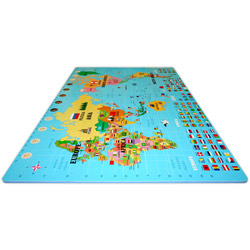 World Map Play Mat Puzzle