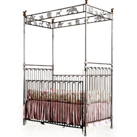 Animal Canopy Iron Crib
