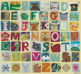 Animal Alphabet Canvas Art