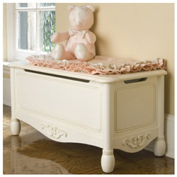 Antique White Toy Chest